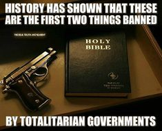 The Democrat Party has already banned the Bible in public places schools and government buildings. Hillary and the rest of her Demoncratic party will do all they can to ban guns if she gets the WH. by building_the_truth Political Quotes, Gun Rights, Conservative Politics, Conservative Quotes, Truth Hurts, 2nd Amendment, Deep, Way Of Life, My Guy