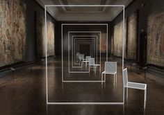 mimicry chairs: An installation by Nendo for London's Victoria and Albert Museum  http://www.nendo.jp