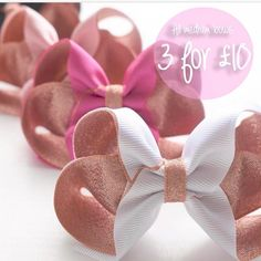 Our 3 for £10 offer ends at midnight tonight!!! This deal applies to all individual medium bows on our website! Just use the code THREE (or SIX, NINE etc depending on how many medium bows are in your basket) Xxx