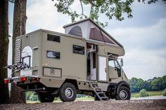 Ein Allrad Wohnmobil für vier Personen fällt schnell größer aus. Nicht so bei diesem Bremach T-Rex Expeditionsfahrzeug