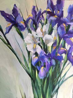 Louisiana iris by @alincolndunn #oil painting #iris painting