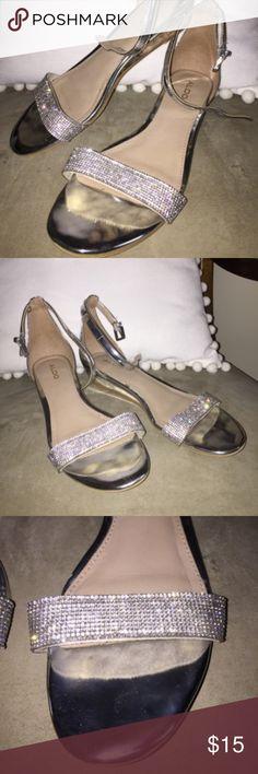 dd6f6eefb39 FLASH SALE 🎉 Aldo Rhinestone Metallic Sandals ♥ Make me an offer! I accept  most of them!
