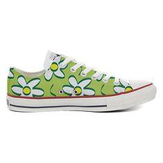 Converse All Star Low Customized personalisierte Schuhe (Handwerk Schuhe) Daisies TG46 - Sneakers für frauen (*Partner-Link)
