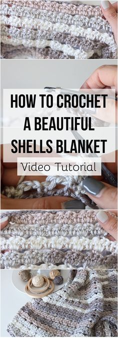 This step-by-step tutorial is for crocheting lovers who want to learn how to crochet a beautiful shells blanket by following a guide with additional Video!