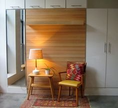 """Check out our internet site for additional info on """"murphy bed ideas ikea diy"""". It is actually an excellent spot to learn more. Murphy Bed Ikea, Murphy Bed Plans, One Room Flat, One Room Apartment, Apartment Therapy, Oakland Apartment, Apartment Ideas, Hideaway Bed, Modern Murphy Beds"""