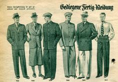 German menswear (ready to wear) 1937