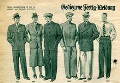 German menswear (ready to wear) 1937