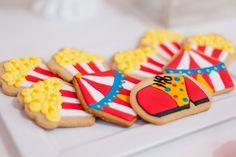 galletas para fiesta infantil Circo Circus Party, Kid Friendly Meals, Carnival, Cookies, Baby Birthday, Birthday Ideas, Desserts, Kids, Drawing Tips