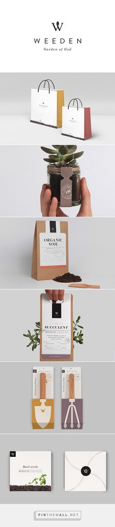 """Weeden packaging branding on Behance by Florence Libbrecht curated by Packaging Diva PD. A Brooklyn based brand of """"inside gardening"""" looking for creating and owning terrariums and plants."""