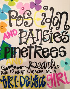 Tri delta craft : Poseidon and pansies and pearls that is what makes me a tri delta girl