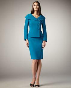 tahari suits | Tahari Shawlcollar Suit in Blue - Lyst