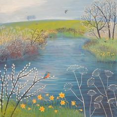 Spring at Kingfisher Pool - available at http://www.artgallery.co.uk/work/174470