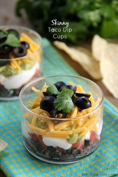 Skinny Taco Dip Cups