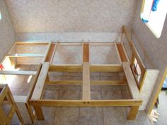 great sliding couch bed!  How to home build an RV - Pirate4x4.Com : 4x4 and Off-Road Forum