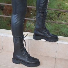 Combat boots trend,fashion,quality.. Leather Boots, Combat Boots, Bootie Boots, Booty, Luxury, Fashion Trends, Shoes, Women, Swag