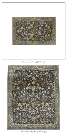 COPY CAT CHIC FIND: Pottery Barn Adeline Rug VS Overstock Marla Blue Rug