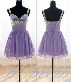 Lavender Homecoming Dress,Short Prom Gown,Chiffon Homecoming Gowns,A Line Party Dress,Spaghetti Straps Sequin Cocktail Dress,Short Prom Dresses,Corset Fiited Gown For Teens