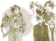 Greed, Ling, and Edward - Fullmetal Alchemist: Brotherhood