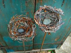 bird nest from old bike chains and other metal