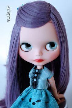 OOAK Basaak Custom Art Doll (Blythe Clone): Livinia Rose. $280.00, via Etsy.