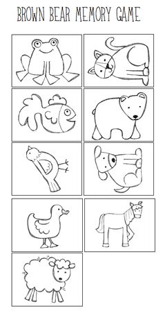 free brown bear brown bear printables from www 1plus1plus1equals1