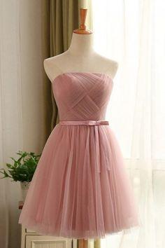 robe-retro-rose-vieux-courte-en-tulle-pour-temoin-mariage-img-LF170901-l-robe-soiree-bustier-courte-tulle-vieux-rose.jpg (360×540)