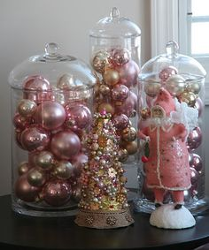 i fill my large crystal vases and other plain glass vases with coloured balls....looks great