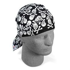 Skull Crossbone White Doo Rag Headwrap Helmet Liner Cap Biker Durag. Size:One Size Fits Most. Style:Du-Rag/Biker. Pattern:Skull. Color:White. Adjustment Type:Tie.