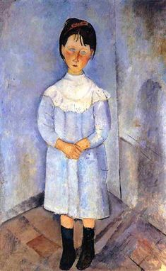 Little Girl in Blue 1918 Amedeo Modigliani