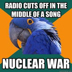Paranoid Parrot. This is exactly what I think!
