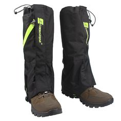 """Krayney Outdoor Leg Gaiters Snow Legging Gaiter Leg Cover for Hiking Walking Climbing Hunting (Black- Adult). Size: approx. 17"""" length. Package Contents: 1 pair of leg gaiters. High quality: made of 2-layer oxford fabric, durable, breathable and waterproof. Keep your leg and boot clean, dry and comfortable. Great designs: adjustbale strap helps to fit most sizes and extra zipper for high ventilation. High wear, tear resistant: helps prevent water, snow and mud from entering into your…"""