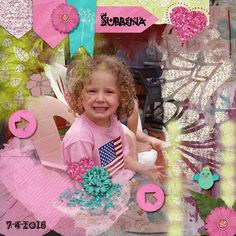 Our niece, Surrena, July 2016 Kit used: Forever Friends by Aimee Harrison Designs Kit link: http://store.gingerscraps.net/Forever-Friends-Collection.html Template used: My Artsy Soul by Kaklei Designs