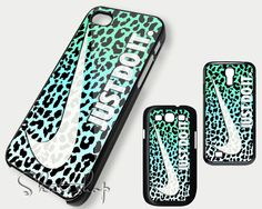 Nike just do it Leopard case iphone 4 iphone 4s iphone 5 iphone 5s samsung Galaxy S3 and S4 Case on Etsy, $16.31 CAD