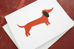 Father's day card, dachshund. Blank for own personal message