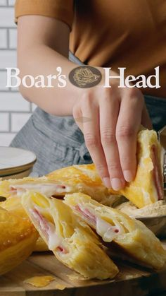 Easy Sandwich Recipes, Easy Appetizer Recipes, Soup And Sandwich, Snack Recipes, Cooking Recipes, Ham And Cheese Croissant, No Cook Appetizers, Air Fryer Recipes Easy, Puff Pastry Recipes