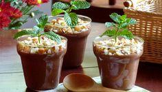 Vasinho de chocolate e hortelã