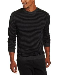 Perry Ellis Mens Cable Crew Pullover Sweater