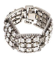 Square Crystal Links Bracelet