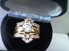 3.75CTW LCS* DIAMOND ENGAGEMENT WEDDING RING GUARD SET SZ 8 + GIFT #exceptionalbuy