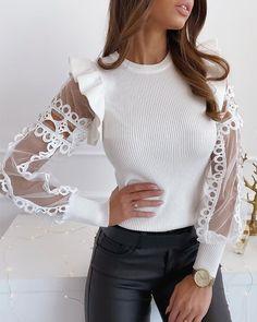 Shape Your Wardrobe / Women's Fashion Online Trend Fashion, Estilo Fashion, Fashion 2020, Style Casual, Looks Chic, Blouse Online, Womens Fashion Online, Pattern Fashion, Spring Outfits