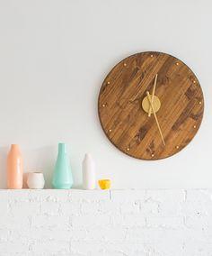 DIY dřevěné hodiny. DIY Mid Century Wall Clock.