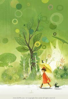 Tim o dau mot gia dinh luon o ben Children's Book Illustration, Character Illustration, Watercolor Illustration, Digital Illustration, Kim Min Ji, Illustrations And Posters, Vintage Illustrations, Love Art, Amazing Art