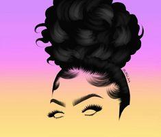 Black Art Painting, Black Artwork, Black Love Art, Black Girl Art, Cartoon Drawings, Art Drawings, Drawings Of Black Girls, Black Art Pictures, Natural Hair Art