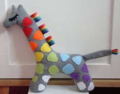 Personalised Baby Toy Name Giraffe by MadeByEdenGrace on Etsy, £15.00