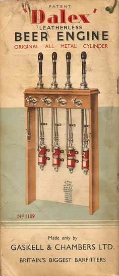 Gaskell & Chambers 'Dalex' leatherless beer engine, 1938