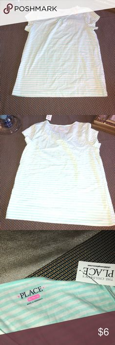 NWT Size XL (14) Girls SS Tee TCP Size 14 XL Girls Tee from Children's Place. Aqua stripes. Brand new with tags. Children's Place Shirts & Tops Tees - Short Sleeve