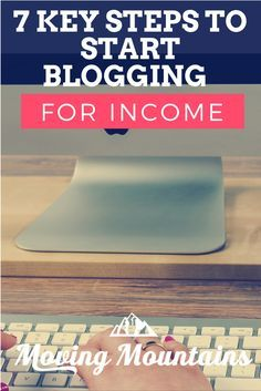 What you need to know if starting a blog for income. Both strategy and application - a great read!
