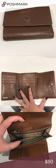 Coach wallet Coach trifold wallet. Used but still very nice. Bags Wallets