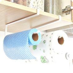 Practical Kitchen Toilet Paper Towel Rack Paper Towel Roll Holder Cabinet Hangin… - Home Decor Design Hanging Towels, Hanging Shelves, Diy Hanging, Paper Towel Holder Kitchen, Ikea, Paper Towel Rolls, Towel Storage, Storage Design, Diy Paper