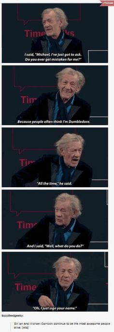 Good old Gandalf and Dumbledore friendship.